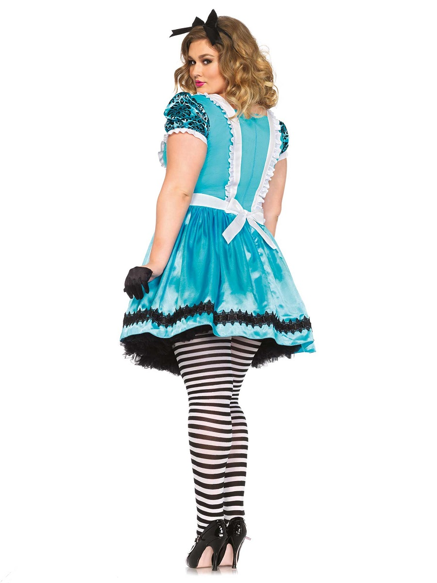 Adult Plus Size Tea Party Alice Costume - 85372X - Fancy Dress Ball