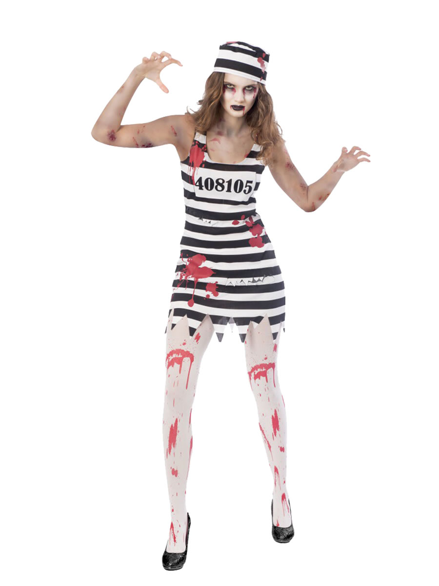 adult plus size zombie convict costume - 9902672 - fancy dress ball