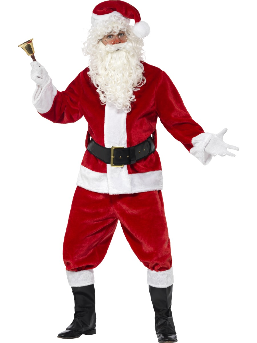 Adult Plush Santa Suit Costume 25963 Fancy Dress Ball