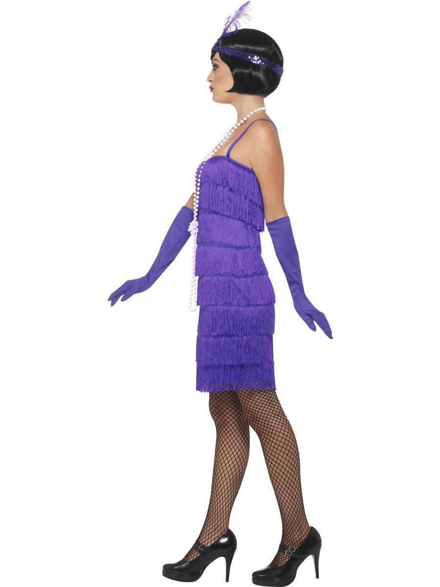 Adult Purple Flapper Costume 45500 Fancy Dress Ball