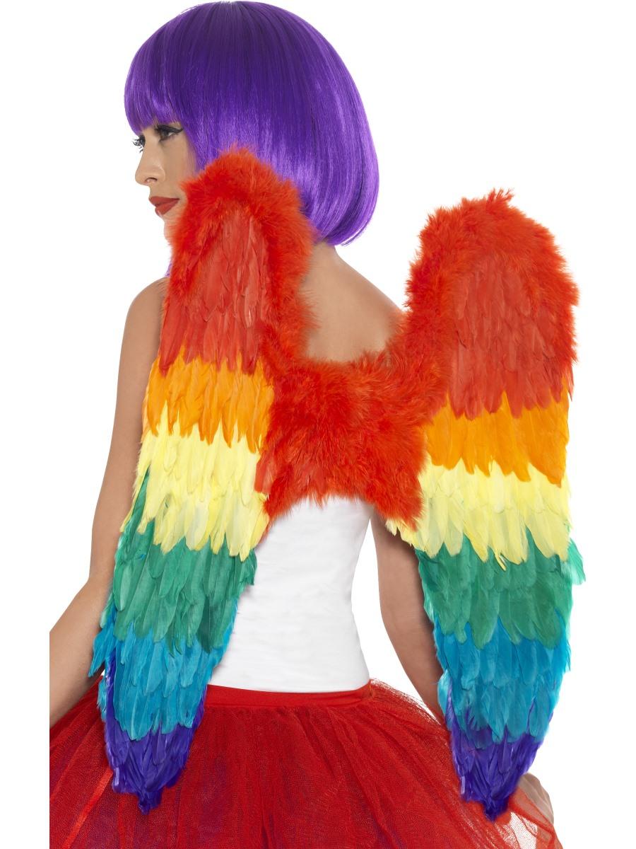 54b703f76 Adult Rainbow Feather Wings - 43585 - Fancy Dress Ball