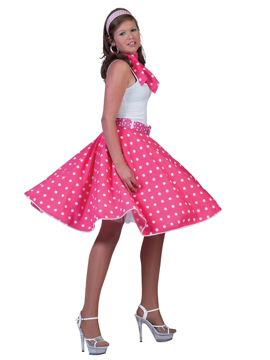 adult pink rock n roll skirt ac049a fancy dress ball. Black Bedroom Furniture Sets. Home Design Ideas