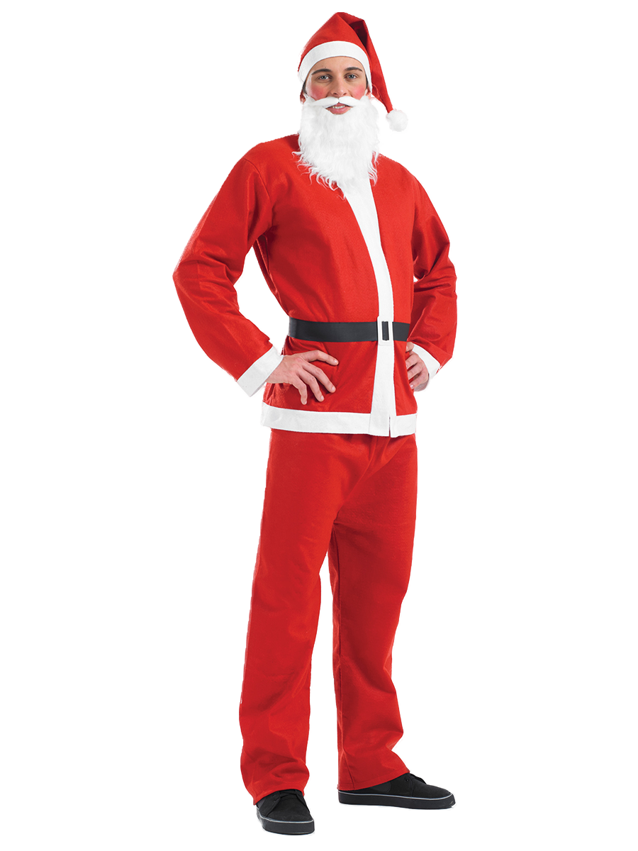 Adult santa suit costume fs fancy dress ball