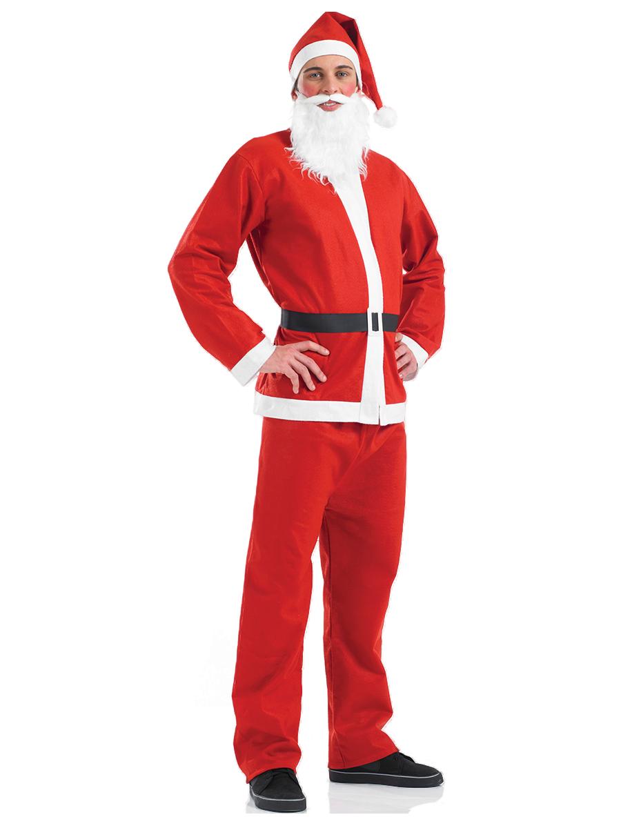 Mens santa claus full costume festive father christmas