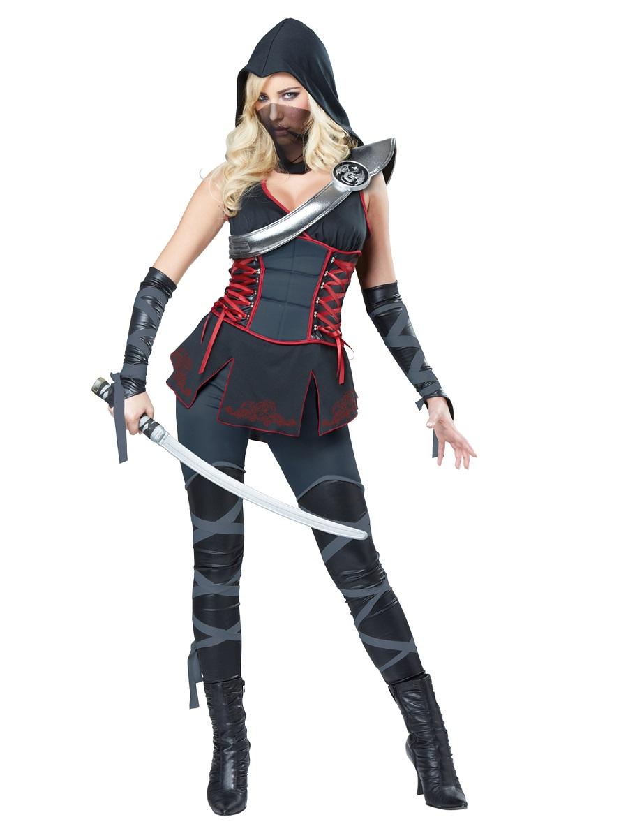adult sexy ninja costume 01357 fancy dress ball