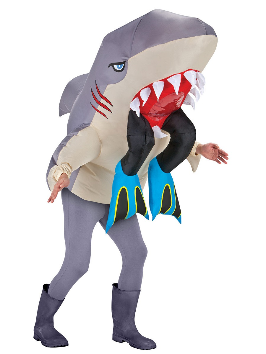 Adult Inflatable Shark With Legs Costume Ss27879g