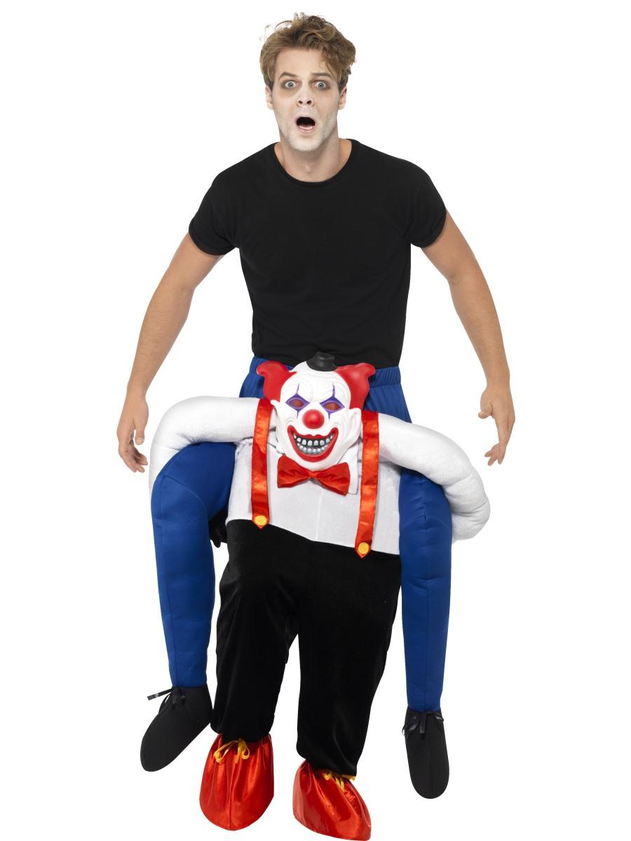 adult sinister clown piggy back costume 45201 fancy dress ball. Black Bedroom Furniture Sets. Home Design Ideas
