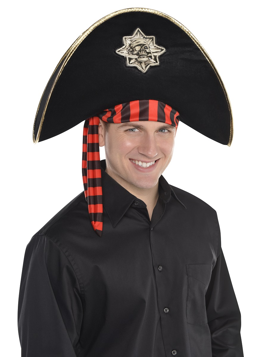 Adult Skull Pirate Hat 846172 55 Fancy Dress Ball