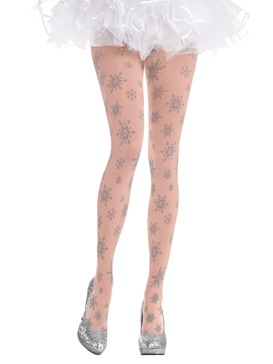 Adult Snowflake Tights 845243 55 Fancy Dress Ball