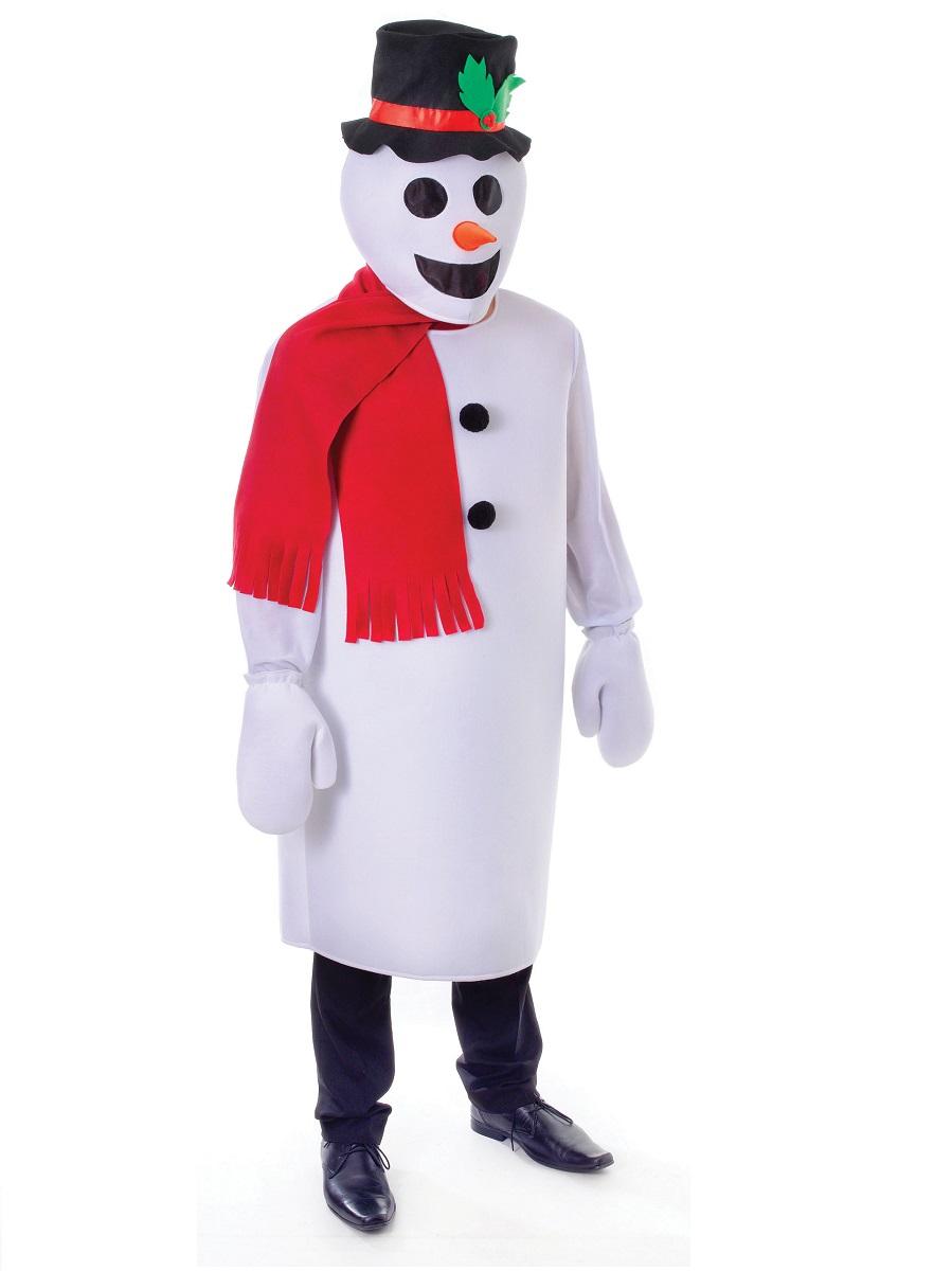 Adult Snowman Costume Ac793 Fancy Dress Ball