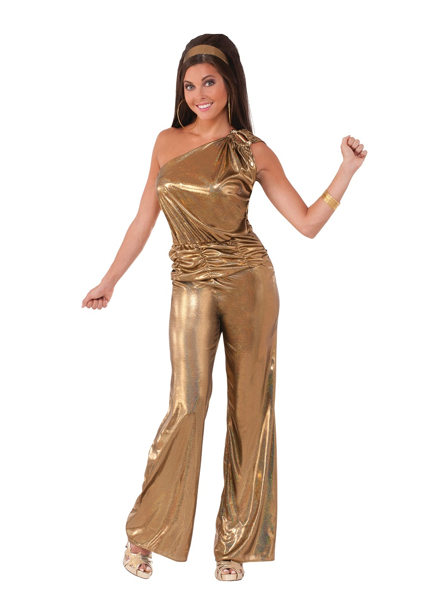 Adult Solid Gold Lady Costume X74528 Fancy Dress Ball