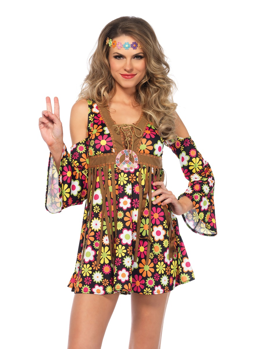 adult star flower hippie costume 85610 fancy dress ball. Black Bedroom Furniture Sets. Home Design Ideas