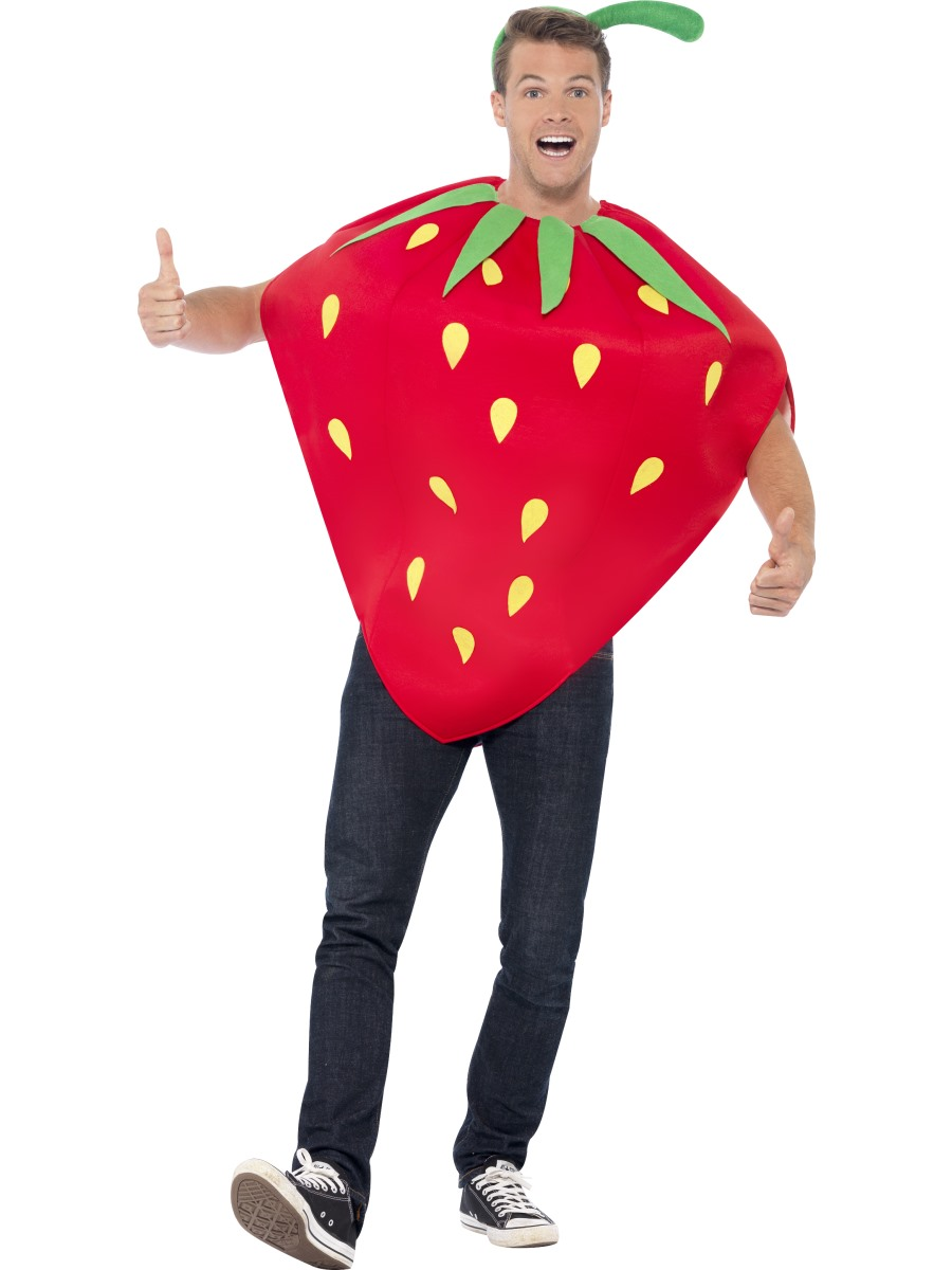 Adult strawberry costume 43406 fancy dress ball