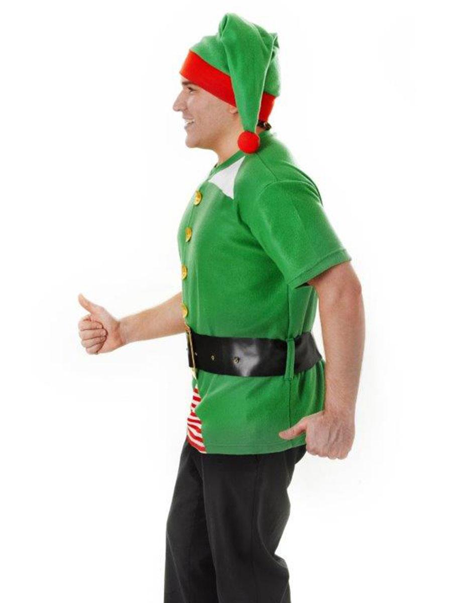 Adult unisex jolly elf kit ac648 fancy dress ball