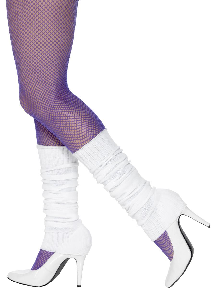 Adult White Leg Warmers - 45644 - Fancy Dress Ball
