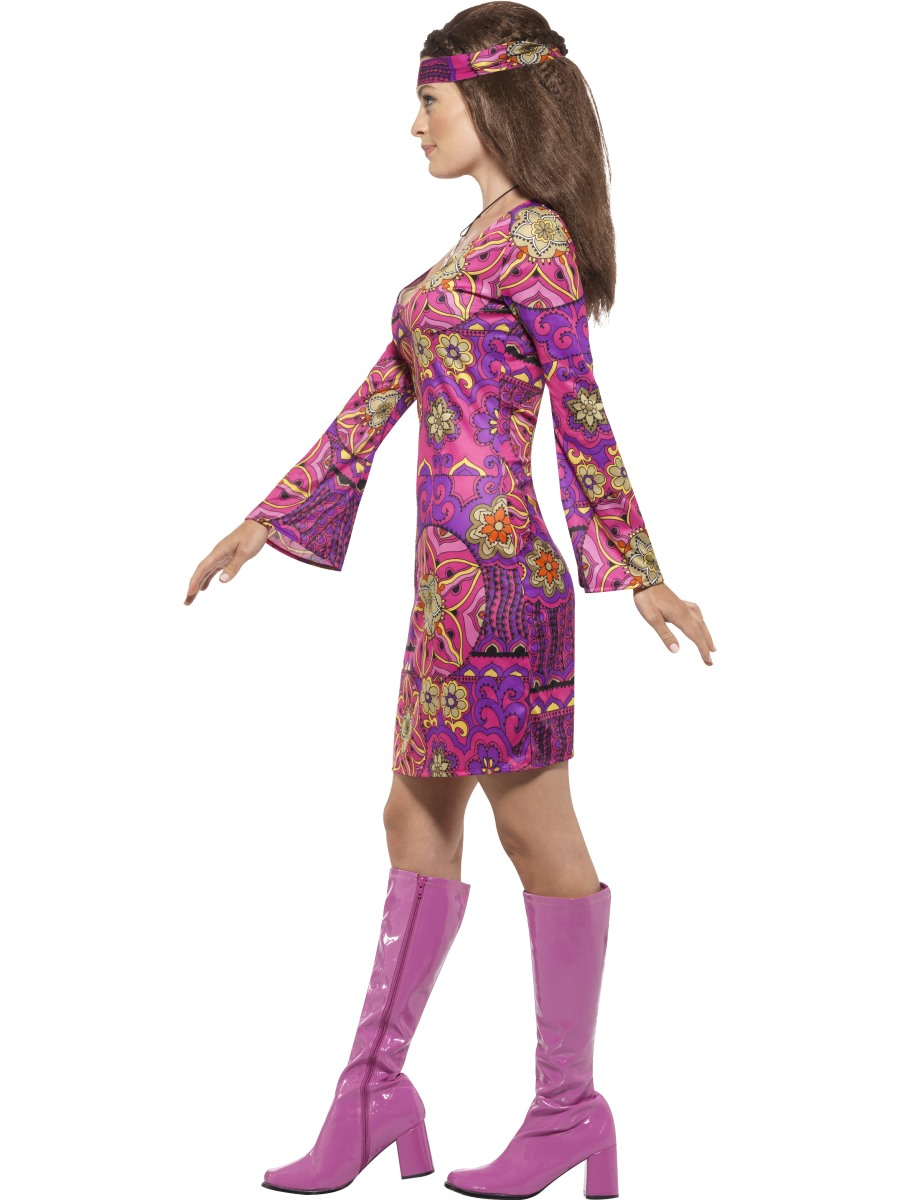 Adult Woodstock Hippie Chick Costume 45519 Fancy Dress
