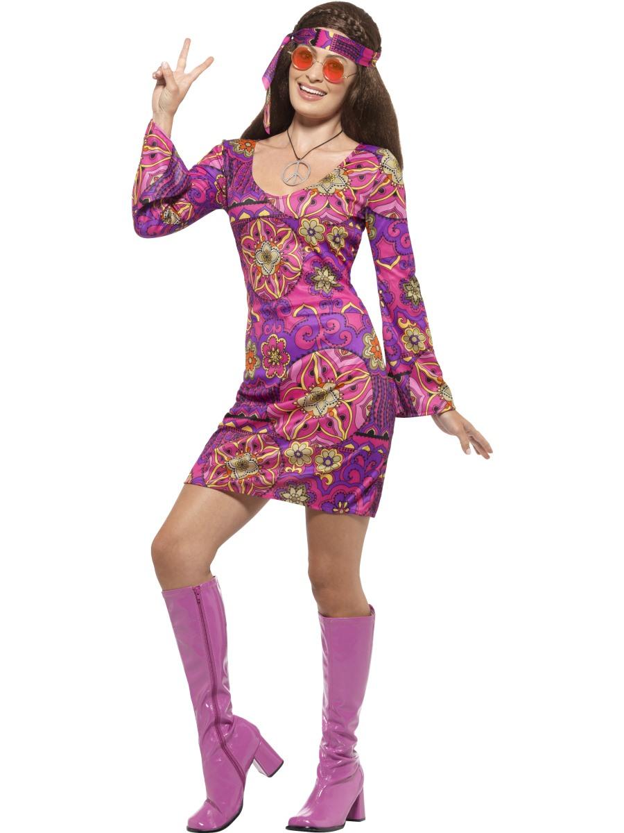 Adult Woodstock Hippie Chick Costume 45519 Fancy Dress