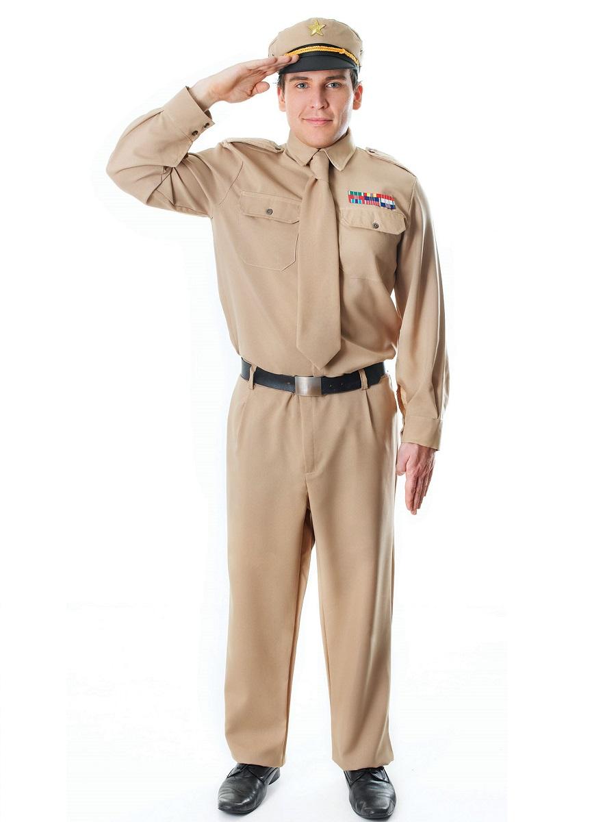 Adult WW2 Army General Costume  sc 1 st  Fancy Dress Ball & Adult WW2 Army General Costume - AC994 - Fancy Dress Ball