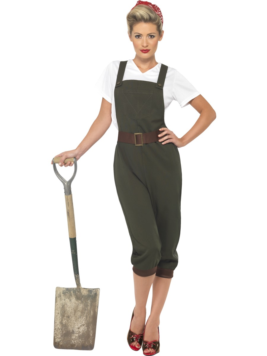 Fancy dress beginning with l fancy dress ball adult ww2 land girl costume solutioingenieria Images
