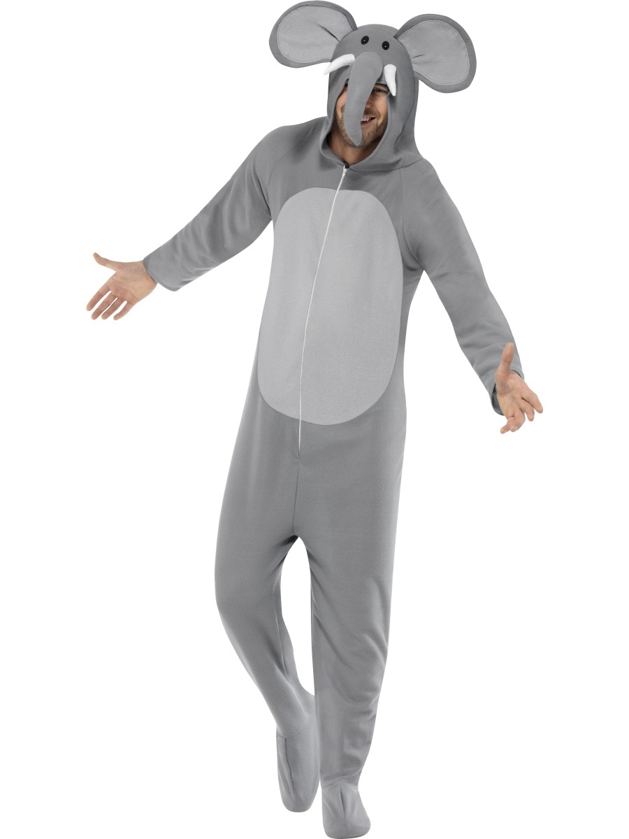 9f13b694a Adult Elephant Onesie Costume - 27827 - Fancy Dress Ball