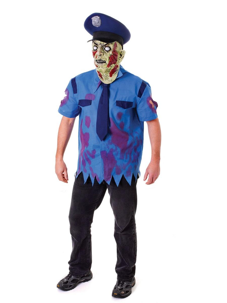 Adult Zombie Cop Costume Ac479 Fancy Dress Ball