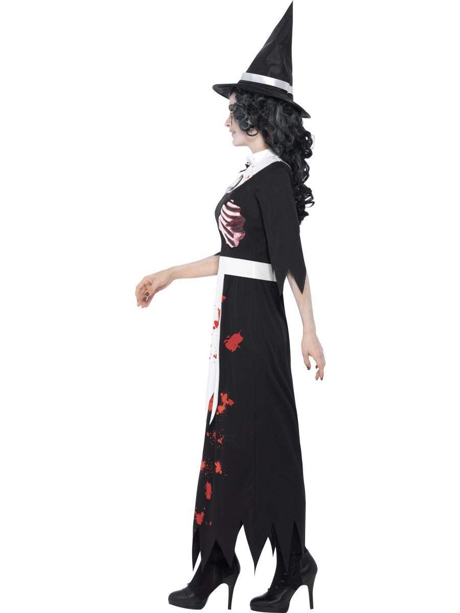 Adult Zombie Salem Witch Costume 40058 Fancy Dress Ball