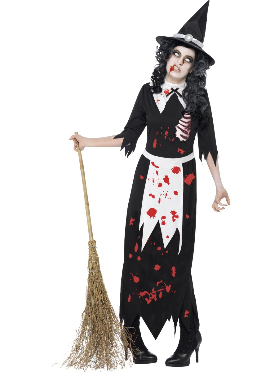 adult zombie salem witch costume 40058 fancy dress ball. Black Bedroom Furniture Sets. Home Design Ideas