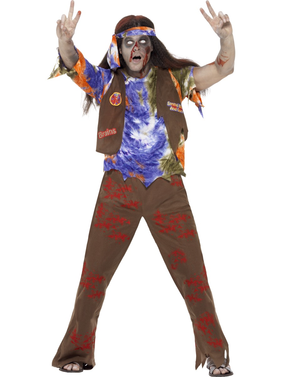 Adult Zombie 60s Hippie Costume - 61106 - Fancy Dress Ball
