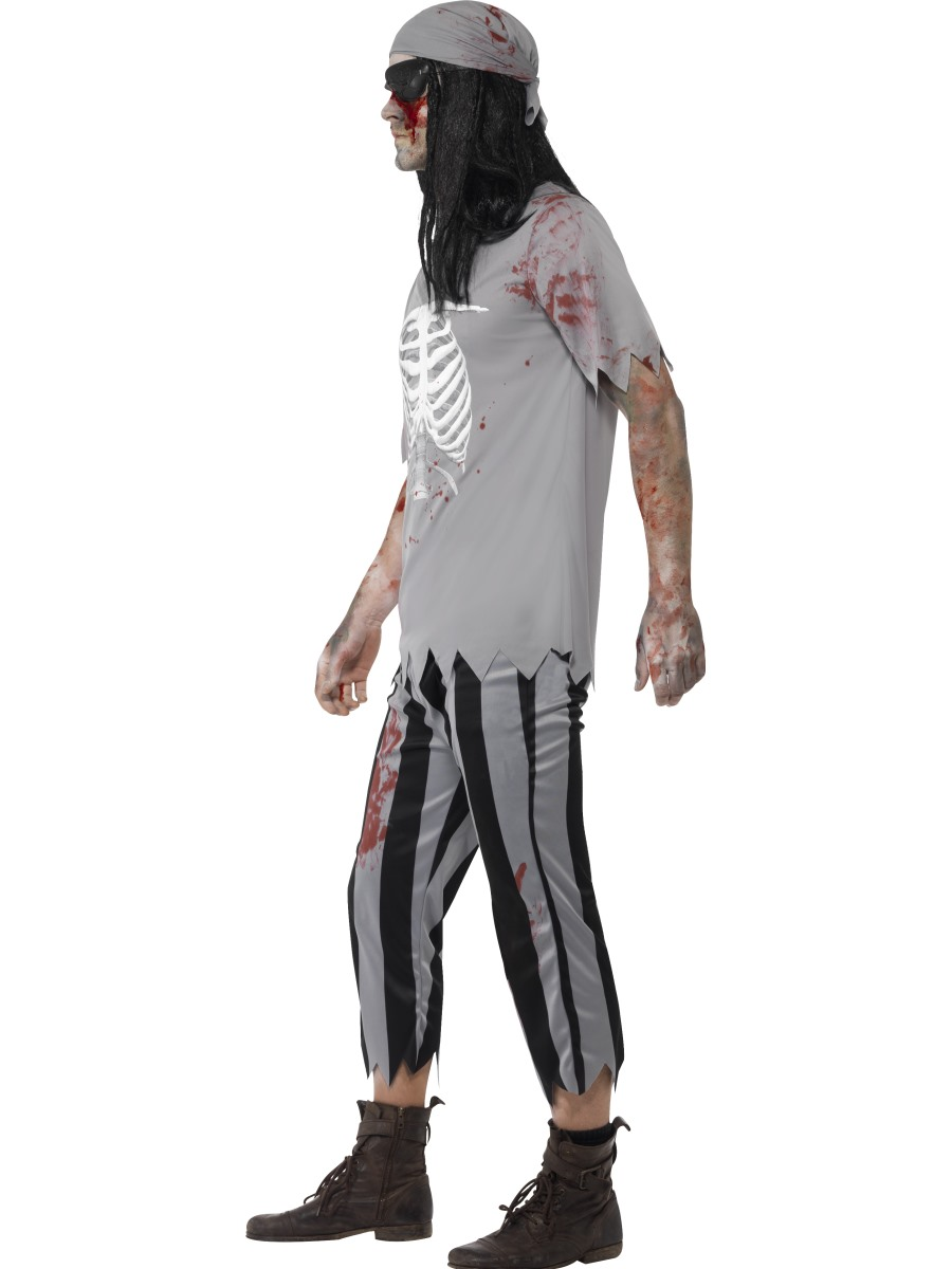 adult zombie pirate costume 45957 fancy dress ball. Black Bedroom Furniture Sets. Home Design Ideas