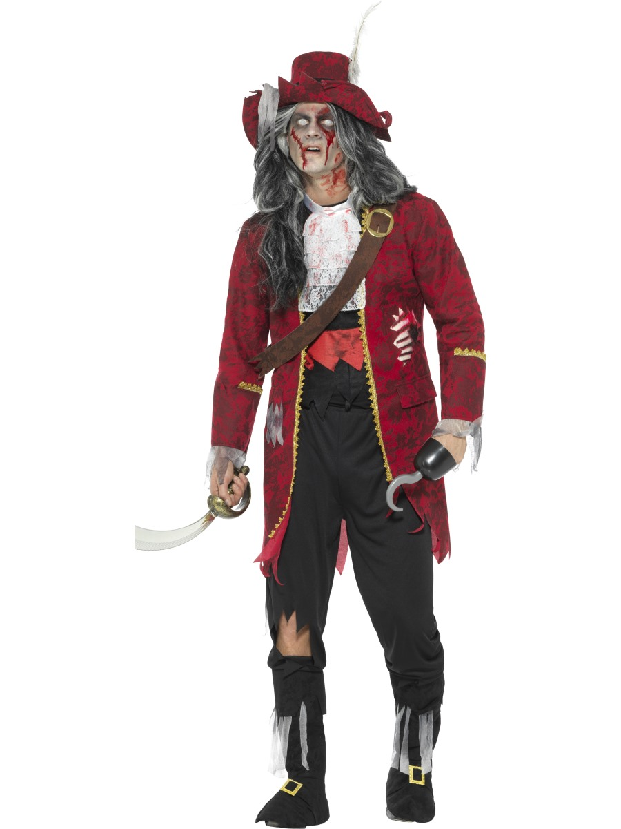 adult zombie pirate costume 46866 fancy dress ball. Black Bedroom Furniture Sets. Home Design Ideas
