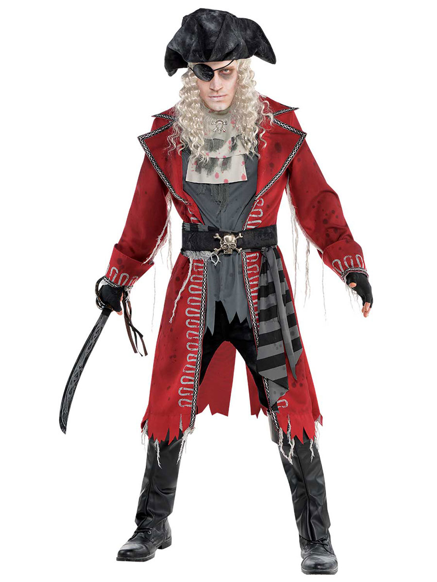 adult zombie pirate costume 847746 55 fancy dress ball. Black Bedroom Furniture Sets. Home Design Ideas