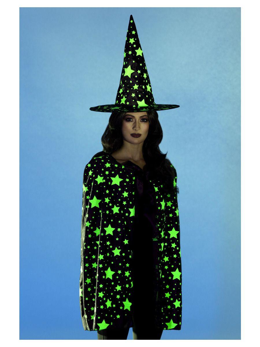 Femme Glow in the Dark Witch T Shirt Halloween Fancy Dress Party
