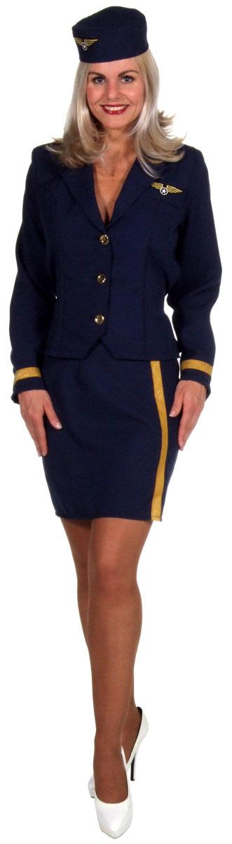 air hostess costume navy blue. Black Bedroom Furniture Sets. Home Design Ideas