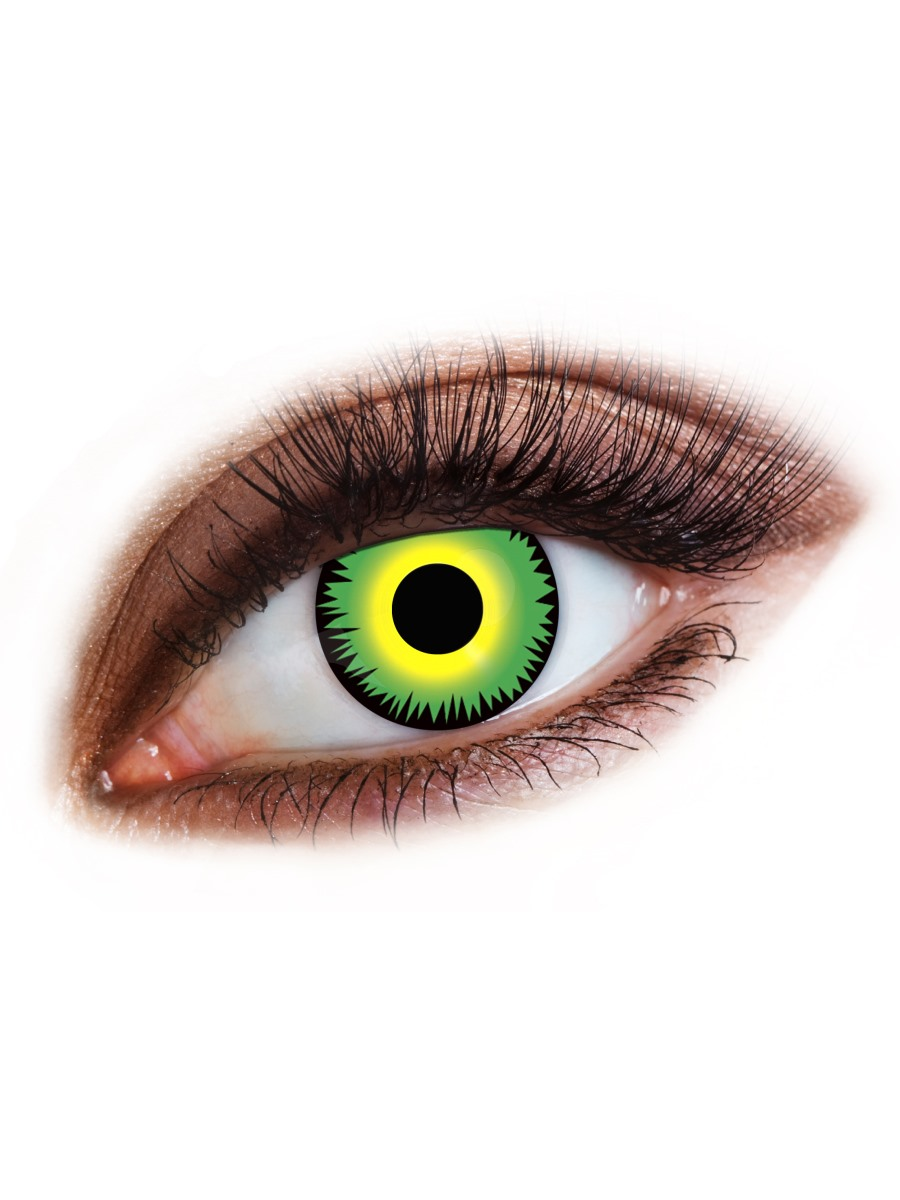 Attractive Monster Contact #6: Angry Monster Green 1 Day Wear Contact Lenses
