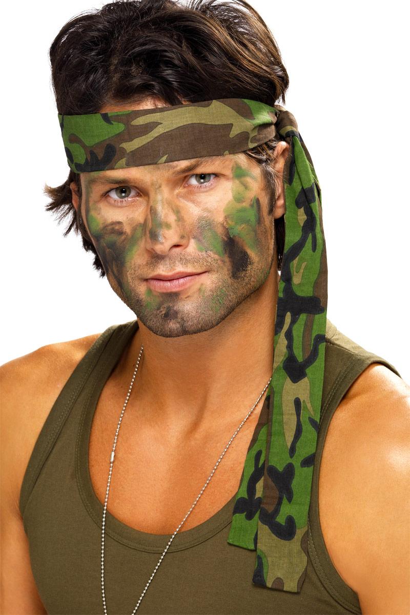 Halloween Army Face Makeup
