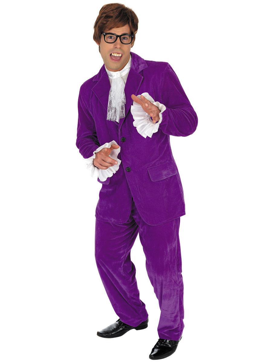 VIEW FULL IMAGE  sc 1 st  Fancy Dress Ball & Adult Austin Powers Purple Costume - FS2767 - Fancy Dress Ball