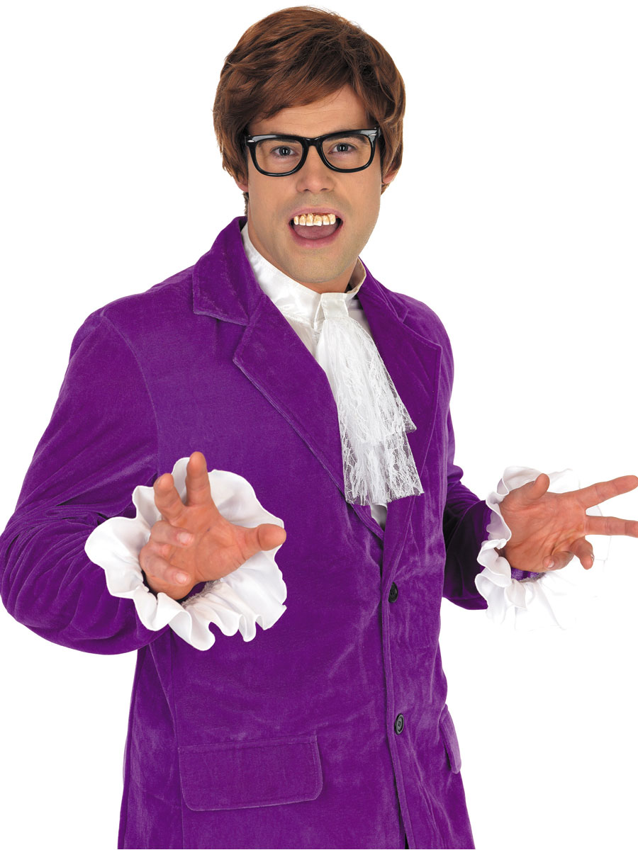 Adult Austin Powers Purple Costume - FS2767 - Fancy Dress Ball
