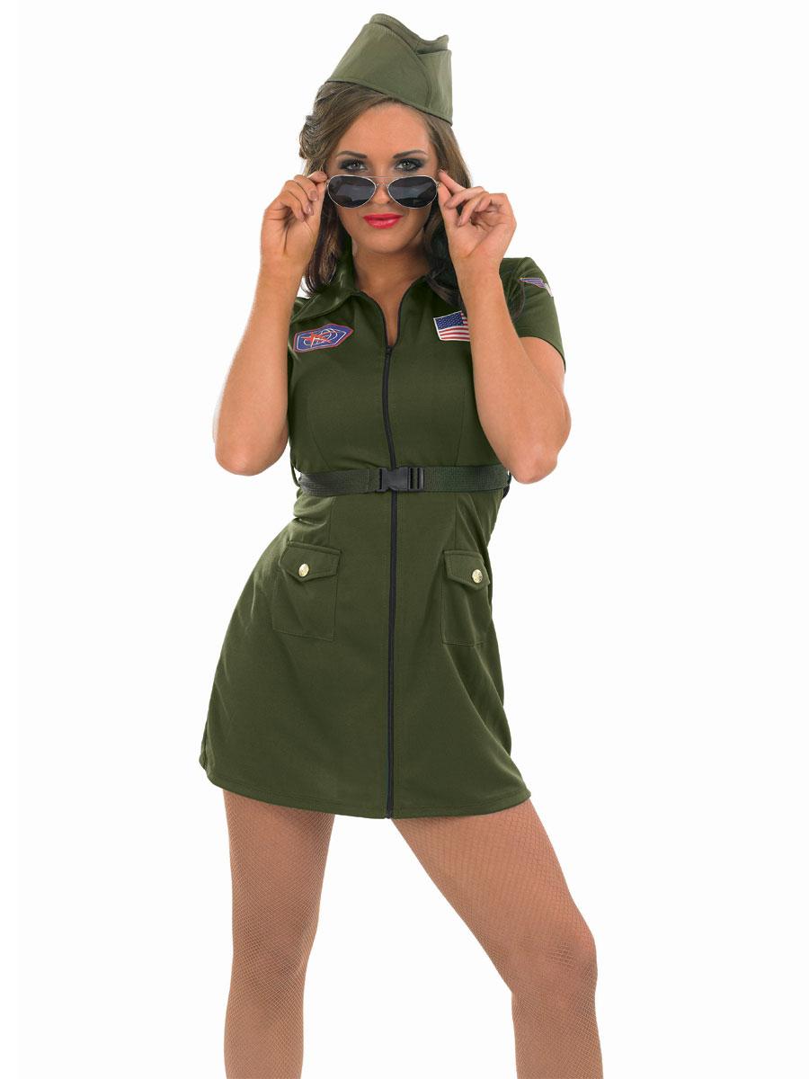Adult Aviator Girl Costume  sc 1 st  Fancy Dress Ball & Womenu0027s Army Fancy Dress u0026 Millitary Costumes | Fancy Dress Ball