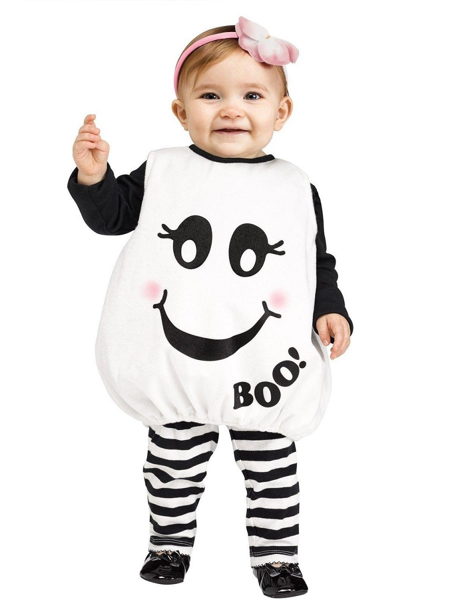 Baby Halloween Costumes. Take a look at these adorable Halloween fancy dress costumes for babies! You'll find lots of comfy, convenient onesies and outfits to choose from, including little vampires, witches, pumpkins and spiders!