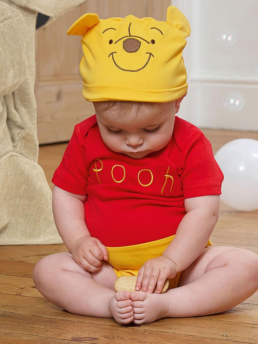 Disney Winnie the Pooh Jersey Bodysuit /& Hat 6-9 months