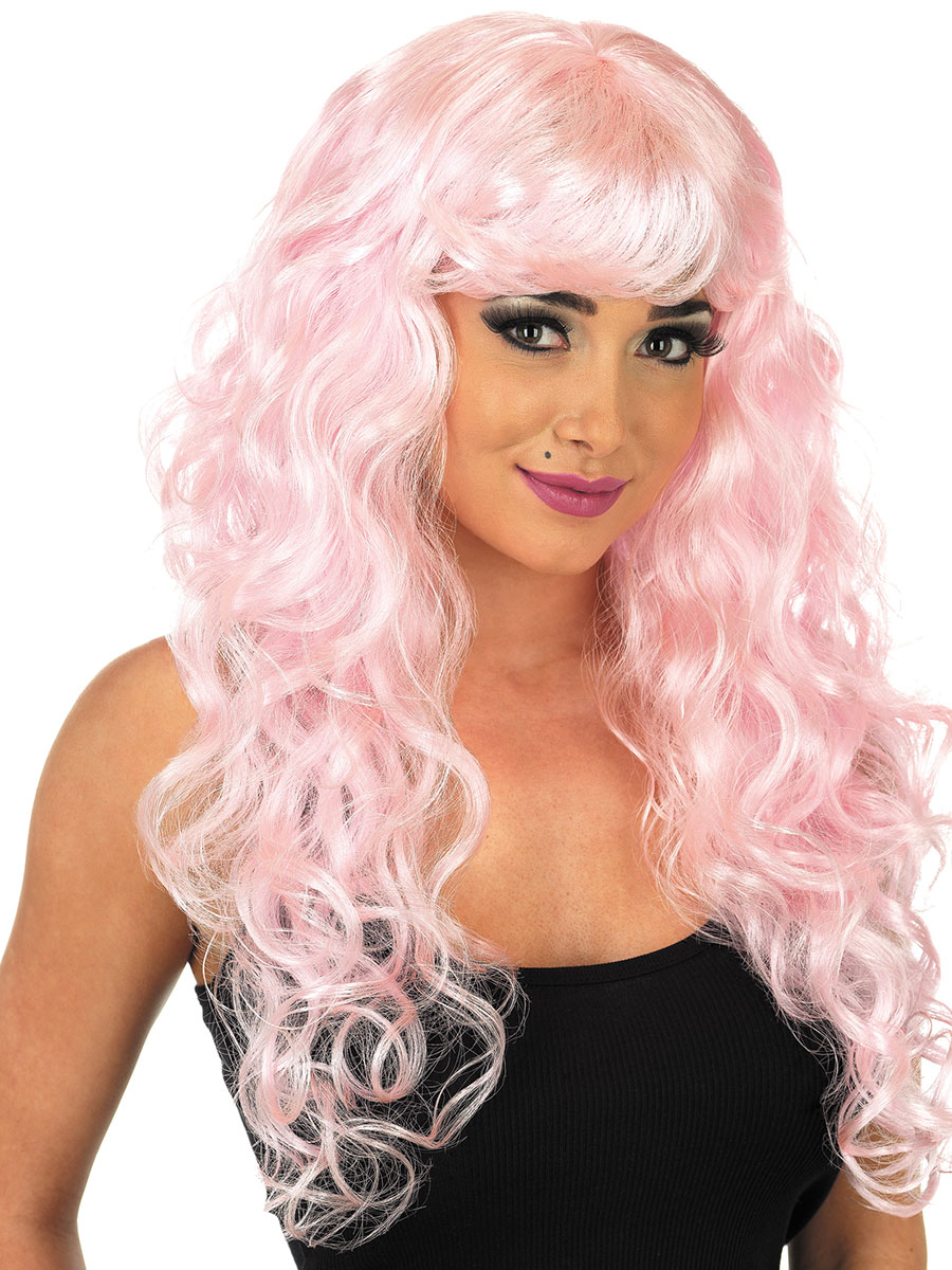 Pink Lace Front Wig Uk Costume And Wigs