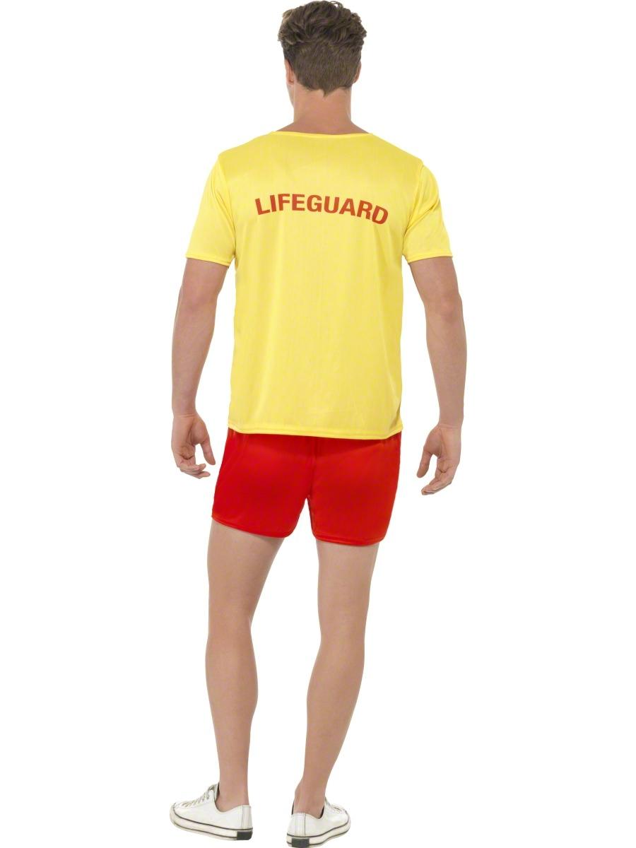 Baywatch Beach Mens Fancy Dress Lifeguard Uniform Adult ...