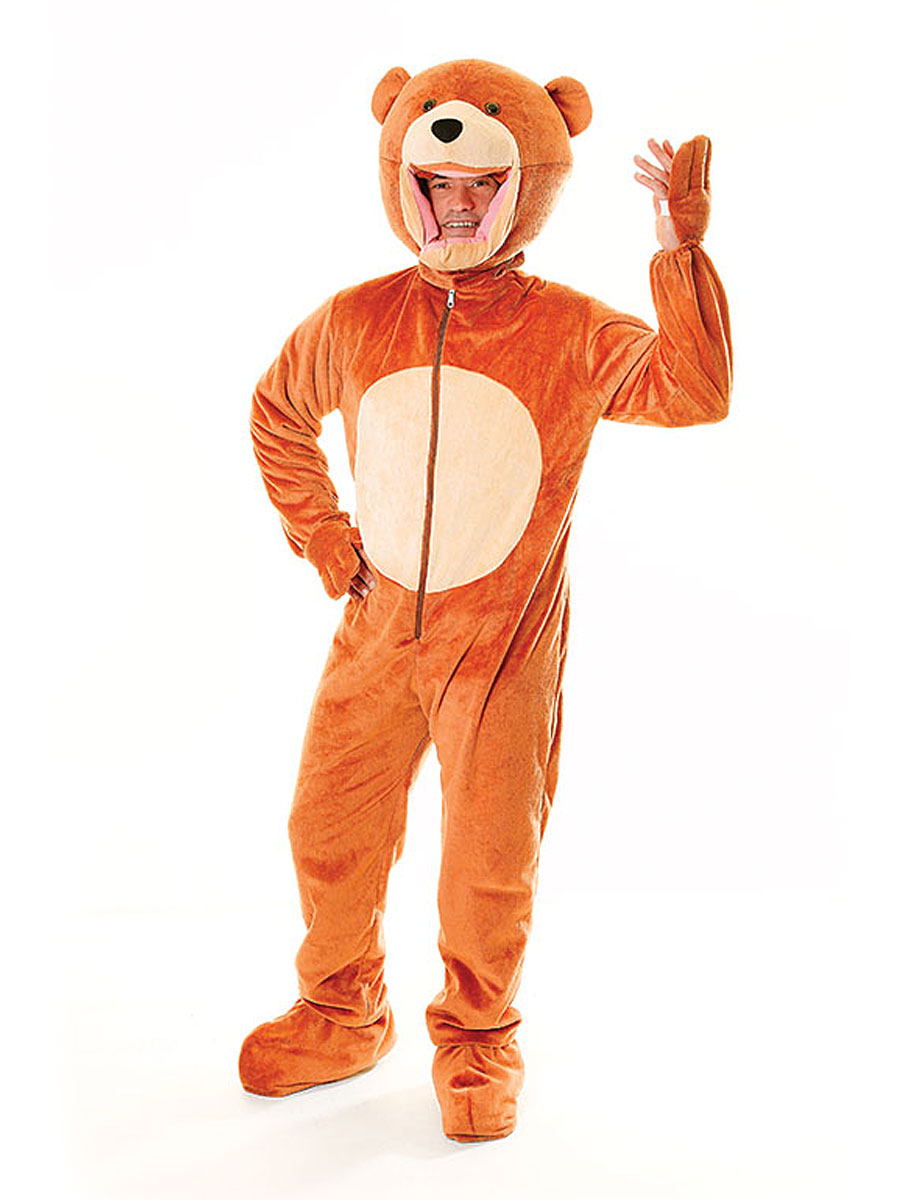 Adult Big Head Teddy Bear Costume Ac261 Fancy Dress Ball