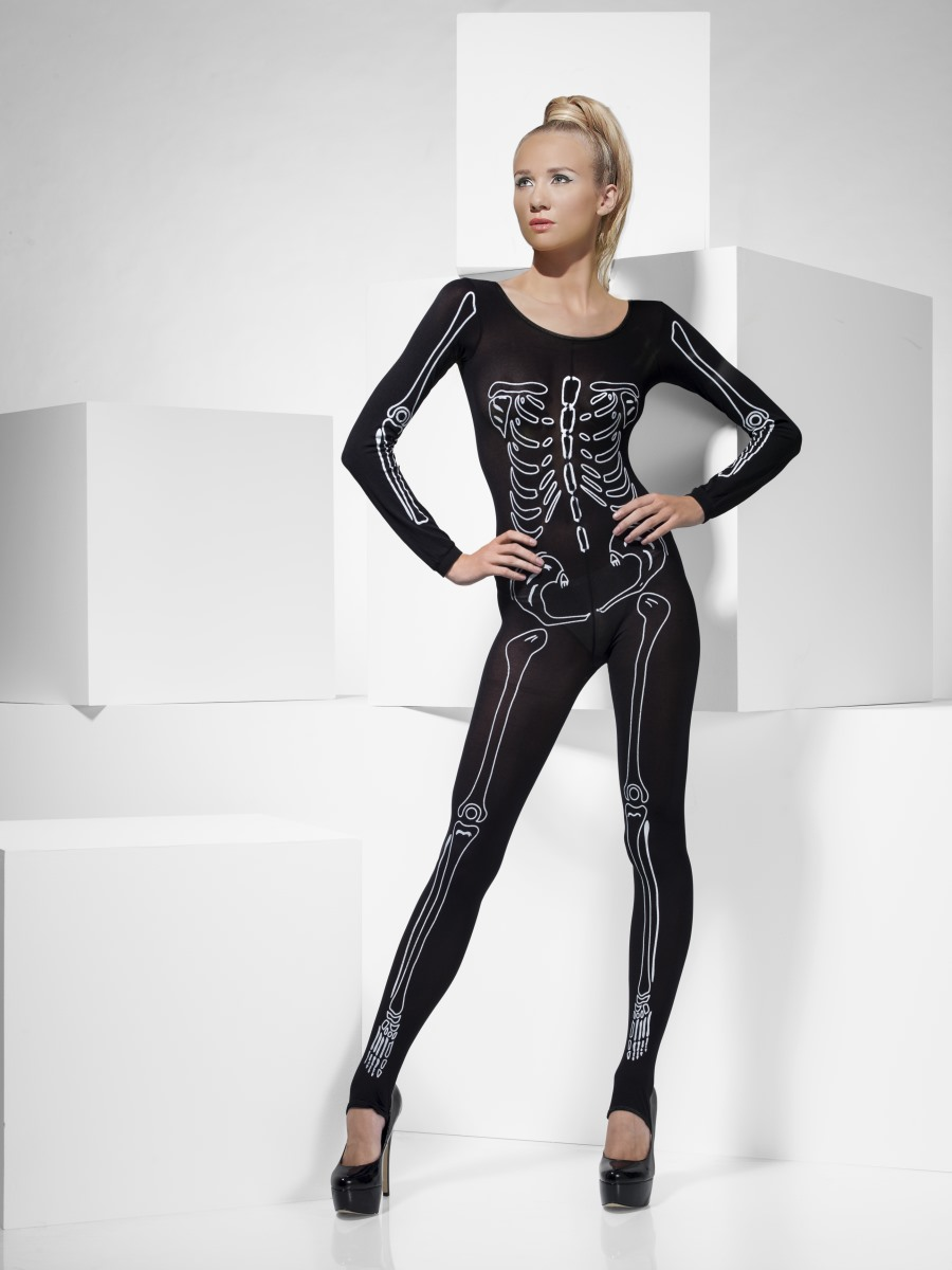 adult skeleton bodysuit - 43572