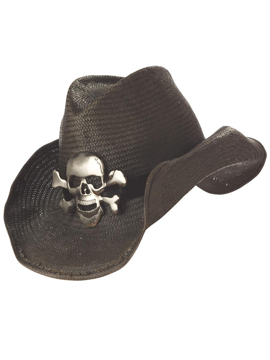 Rock star skull cowboy hat 60022 fancy dress ball