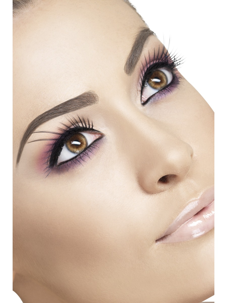 6253d1108c3 Black Eyelashes with Long Plumes - 34218 - Fancy Dress Ball