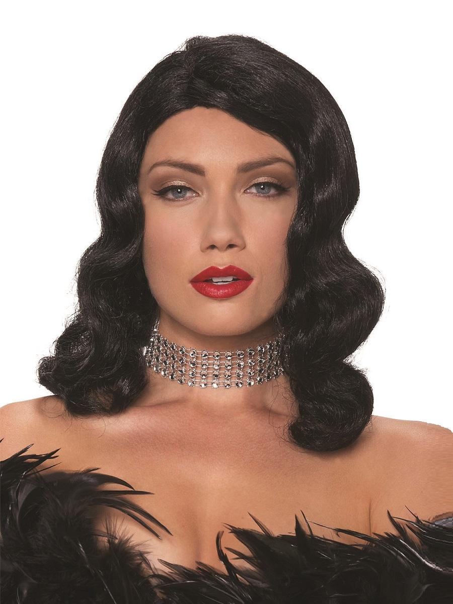 Wigs beards amp moustaches gt 1920 s wigs gt adult black femme fatale wig
