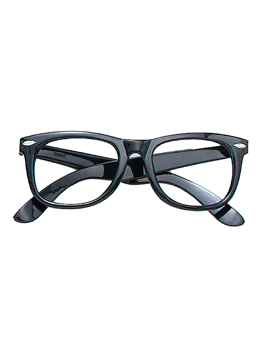 Black Frame Accessory Glasses : Black Frame Geek Glasses - BA182 - Fancy Dress Ball