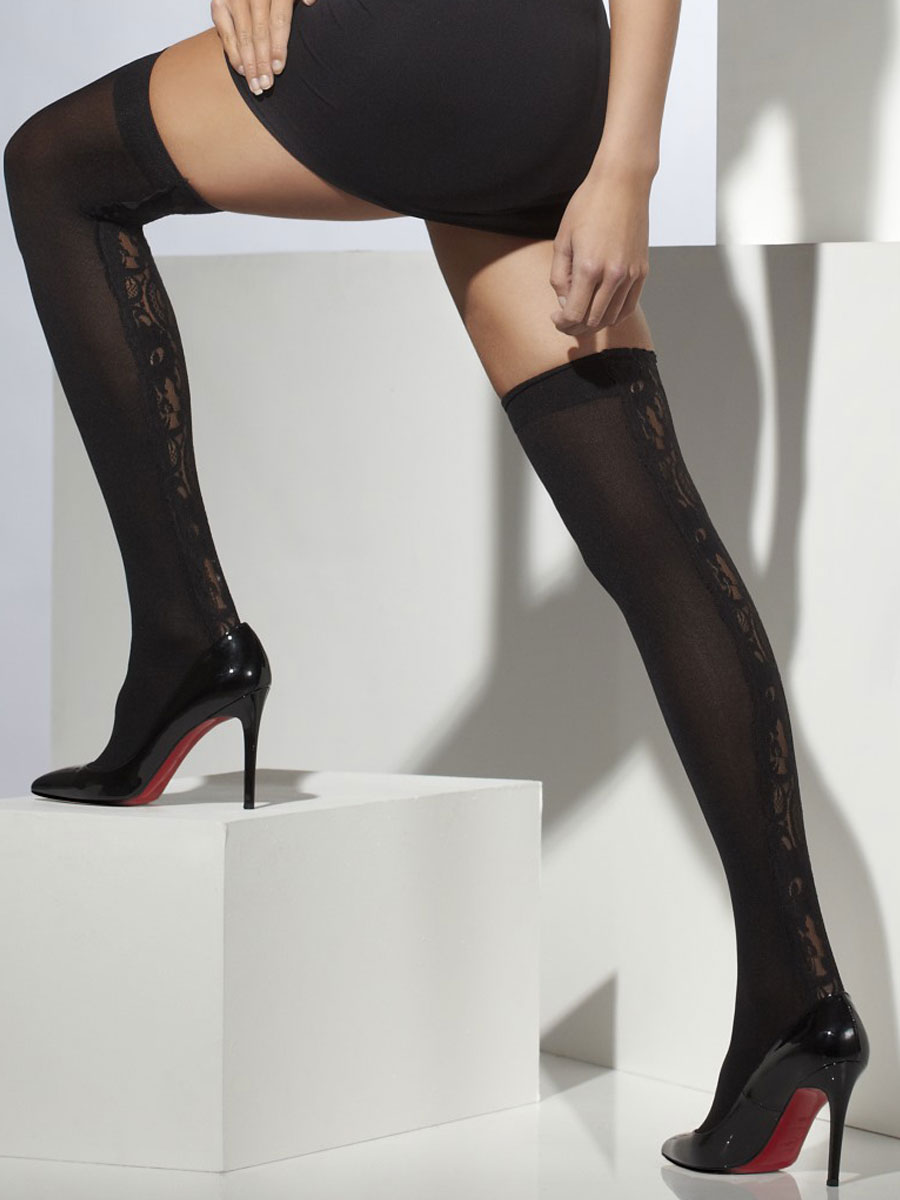 Black Lace Thigh Highs 33121 Fancy Dress Ball