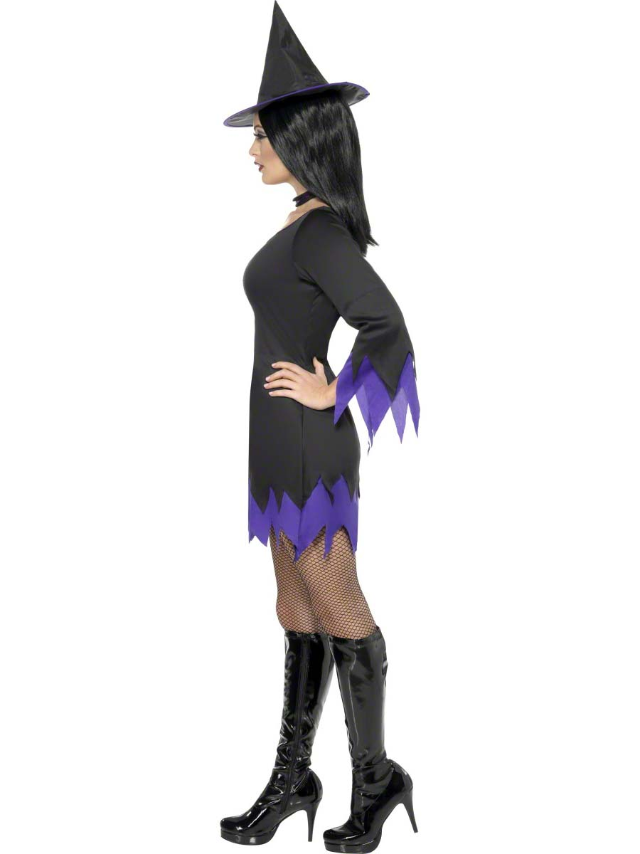 Adult Black Witch Costume 32367 Fancy Dress Ball